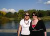 Marg & Liz - walking around Lake Burley Griffin near the governor general