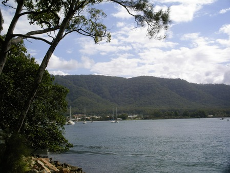 North Brother mountain and the river from Dunbogan