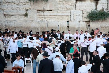 Western Wall, Friday night in Jerusalem