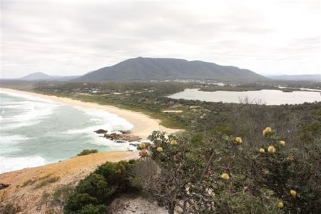 south beach from Charles Hamey Lookout.