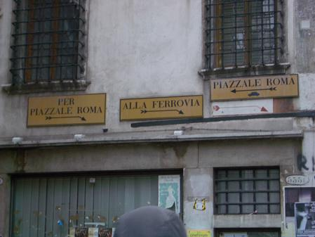 Based on this which way would you go to the Piazalli Roma?