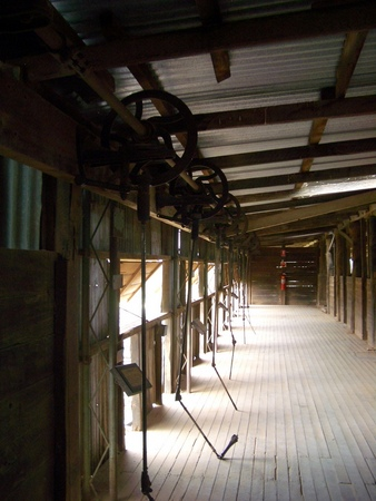 Shears in old Kinchega woolshed